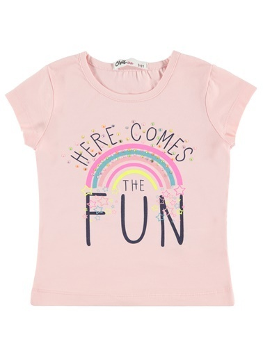 Civil Girls Kız Çocuk Tişört Renkli